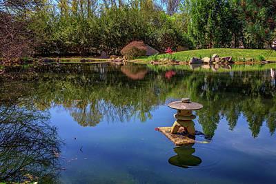 Japanese Reflections At Maymont Poster by Rick Berk