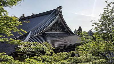 Japanese Shrine Rooftops Poster