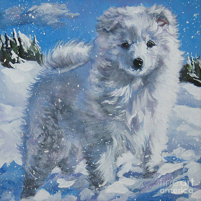 Japanese Spitz Poster by Lee Ann Shepard