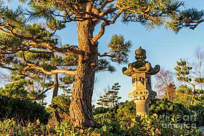 Japanese Stone Lantern Poster by Michael Wheatley