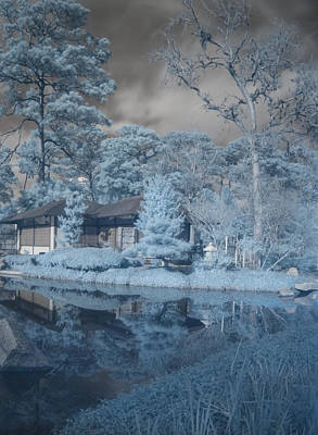 Poster featuring the photograph Japanese Tea Garden Infrared Right by Joshua House