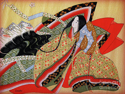 Japanese Textile Art Poster by Eena Bo