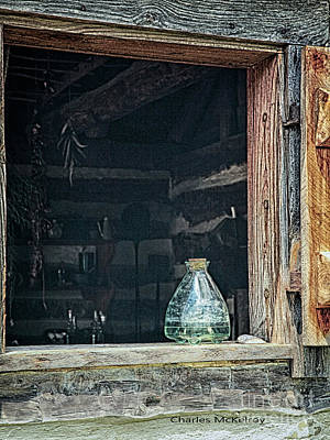 Poster featuring the photograph Jar In Window by Charles McKelroy