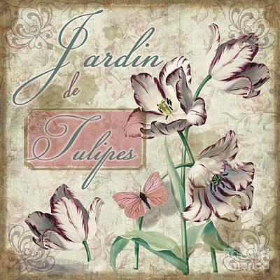 Jardin De Tulipes Poster