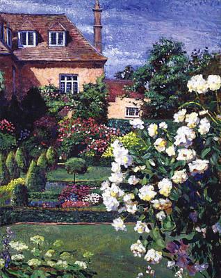Jardin De Chateau Poster by David Lloyd Glover