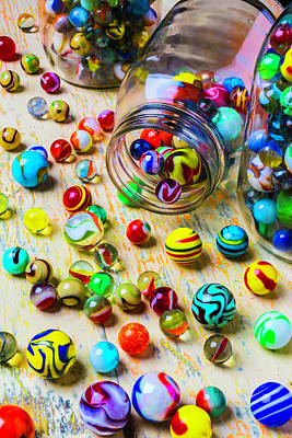 Jars Of Marbles Poster by Garry Gay