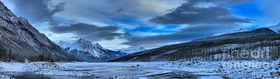 Jasper Medicine Lake Snowy Panorama Poster