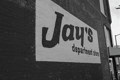 Poster featuring the photograph Jay's Department Store In Bw by Doug Camara