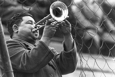 Poster featuring the photograph Jazz Behind A Fence by Emanuel Tanjala