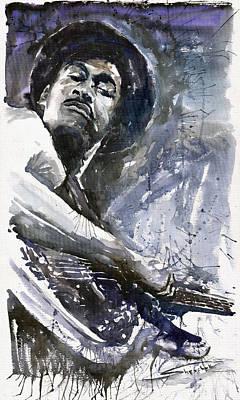 Jazz Marcus Miller 01 Poster by Yuriy  Shevchuk