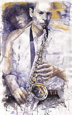 Jazz Muza Saxophon Poster
