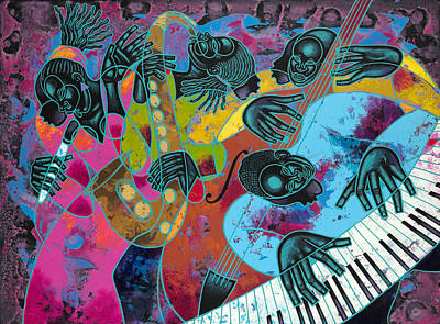 Jazz On Ogontz Ave. Poster by Larry Poncho Brown