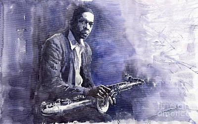 Jazz Saxophonist John Coltrane 03 Poster by Yuriy  Shevchuk