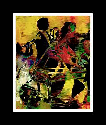 Jazzy Night  Poster by Lynda Payton