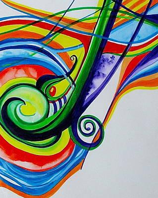 Jazzy Notes Poster by Erika Swartzkopf
