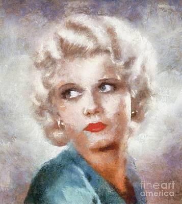 Jean Harlow By Sarah Kirk Poster