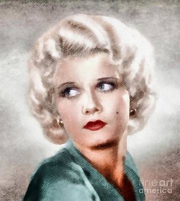 Jean Harlow, Vintage Actress By John Springfield Poster