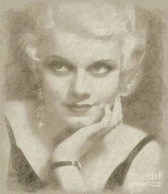 Jean Harlow Vintage Hollywood Actress Poster by Frank Falcon