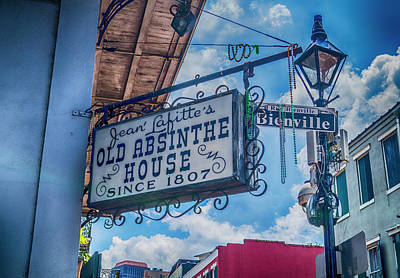 Jean Lafitte's Old Absinthe House Poster by Craig David Morrison