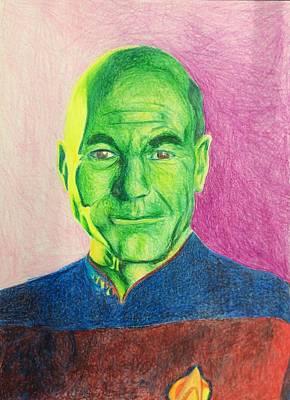 Jean-luc Picard Portrait Poster by Elizabeth Vasquez