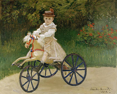 Jean Monet On His Hobby Horse           Poster by Claude Monet