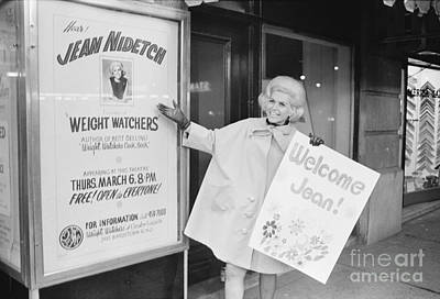 Jean Nidetch, Cofounder Of Weight Watchers Poster by The Harrington Collection