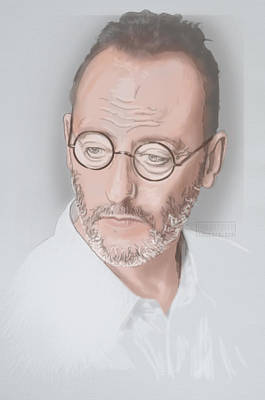 Poster featuring the mixed media Jean Reno by TortureLord Art