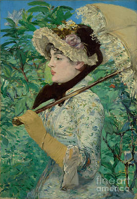 Jeanne - Spring By Edouard Manet  Poster
