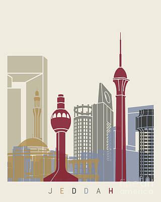 Jeddah Skyline Poster Poster