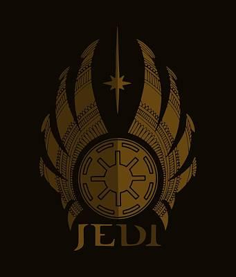 Jedi Symbol - Star Wars Art, Brown Poster