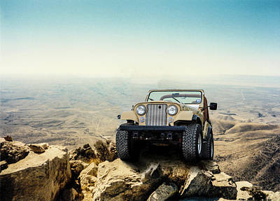 Jeep On A Mountain Poster