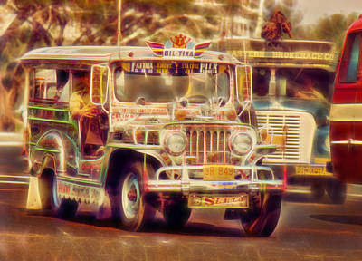 Jeepney Manila Poster by David French