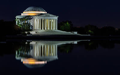 The Jefferson At Night Poster by Ed Clark