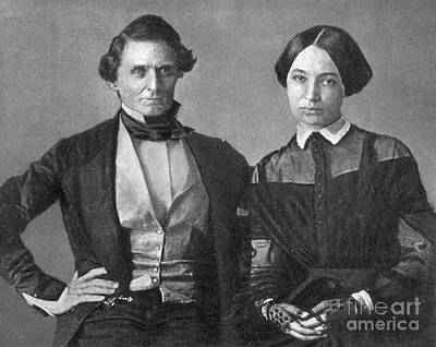 Jefferson Davis And Varina Howell Davis Poster by Photo Researchers