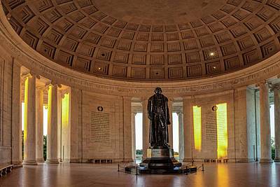 Jefferson Memorial In Morning Light Poster by Andrew Soundarajan