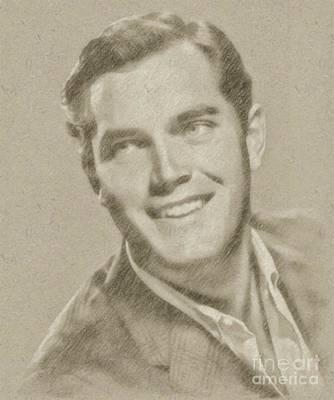 Jeffrey Hunter Vintage Hollywood Actor Poster