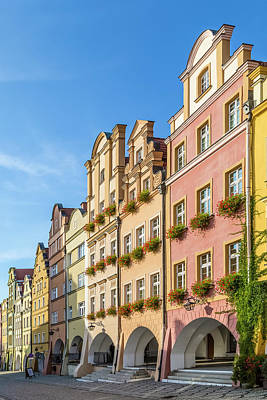 Jelenia Gora Baroque Tenement Houses With Arcades Poster by Melanie Viola