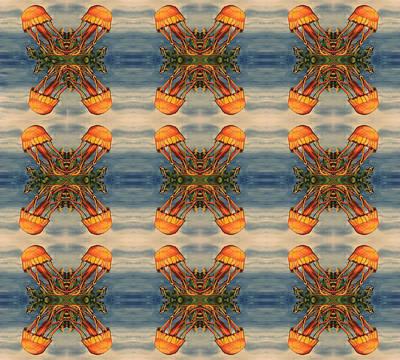 Jellyfish Pattern Poster