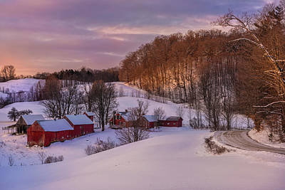 Jenne Farm Winter Scenic Poster by Thomas Schoeller