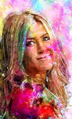 Jennifer Aniston Poster by Elena Kosvincheva