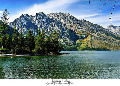 Jenny Lake Poster by Greg Norrell