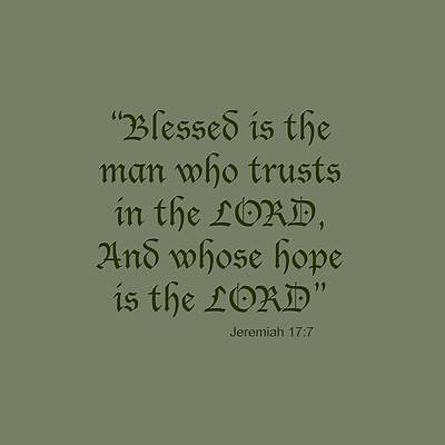 Jeremiah 17 7 Blessed Is The Man Poster
