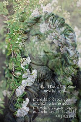 Jeremiah 29 - 11 Scriptural Art Poster by Ella Kaye Dickey