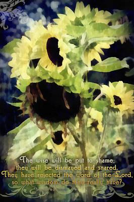 Jeremiah 8 9 Poster by Michelle Greene Wheeler