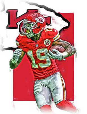 Jeremy Maclin Kansas City Chiefs Oil Art Poster