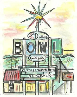 Jerry Dutler's Bowl Poster by Matt Gaudian