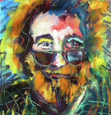 Poster featuring the painting Jerry Garcia by Les Leffingwell