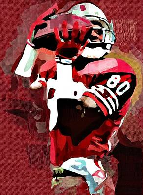 Jerry Rice Poster by Bob Smerecki
