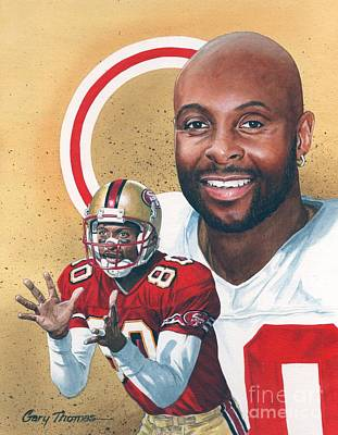 Jerry Rice Poster by Gary Thomas
