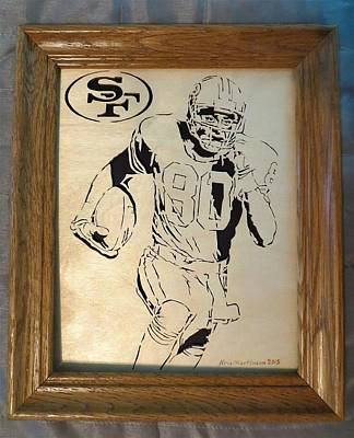 Jerry Rice Poster by Kris Martinson